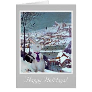 Jul för en vitkanin - vintagekonstkort hälsningskort