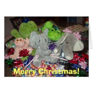 Jul för ett nötkreatur! hälsningskort
