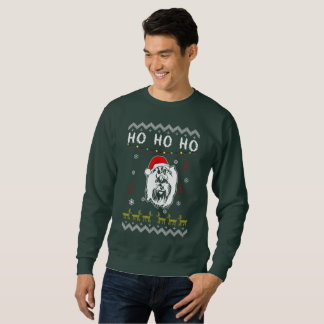 Jul för hund för Yorkshire Terrier ful Ho Ho Ho Lång Ärmad Tröja