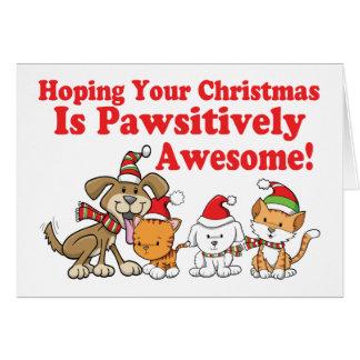 Jul för hund- & kattPawsitively fantastisk Hälsningskort