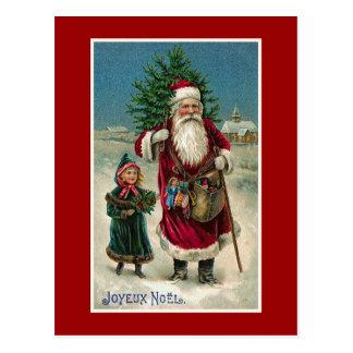 """Jul """"för Joyeux Noel"""" vintagefransk Vykort"""