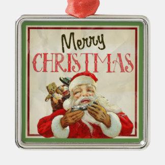 Jul för klassikervintagejultomten julgransprydnad metall