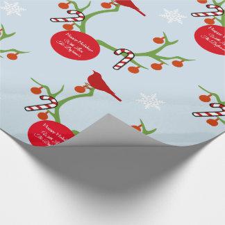 Jul för personligrenhorn på kronhjort presentpapper