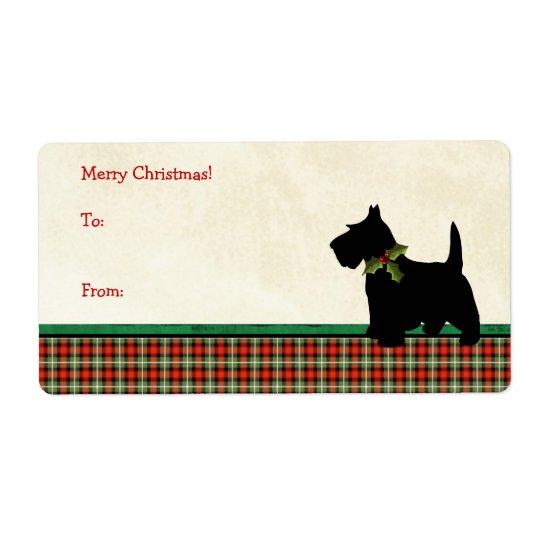 Jul för pläd för Scottiehund beställnings- Fraktsedel