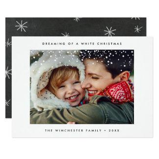 Jul för snö för HELGDAGFOTOKORT   minsta modern 12,7 X 17,8 Cm Inbjudningskort