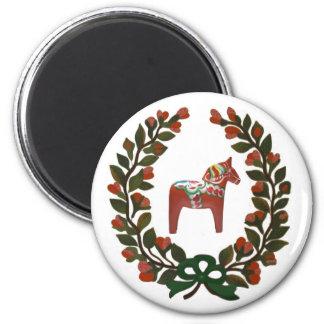 Jul för svensk för Dala hästkran Magnet