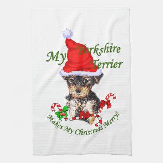 Jul för Yorkshire Terrier Kökshandduk
