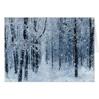 Jul fryst snowing hälsningskort