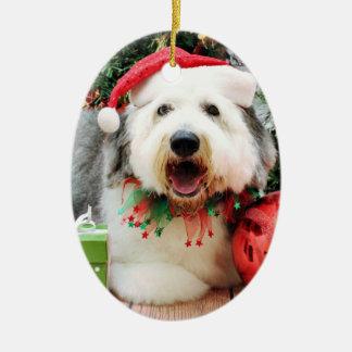 Jul - gammal engelsk Sheepdog - Alphy