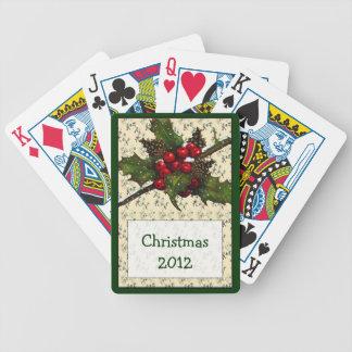 Jul: Helgdagar: Järnek bär, gräskottar Spelkort