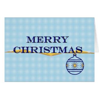 Jul i blått hälsningskort