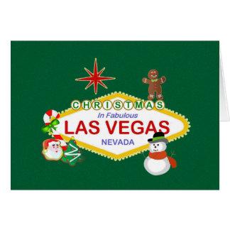 Jul i det sagolika Las Vegas kortet Hälsningskort