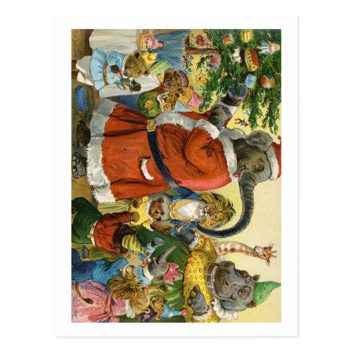 Jul i djurt land vykort