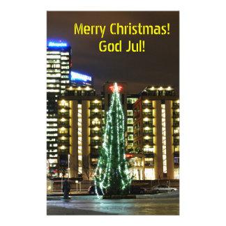 Jul i Oslo, norge Brevpapper