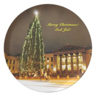 Jul i Oslo, norge Tallrik