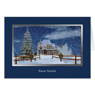 Jul italienare, Buon Natale Hälsningskort