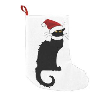 Jul Le Prata Noir med den Santa hatten Liten Julstrumpa