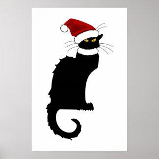 Jul Le Prata Noir med den Santa hatten Poster