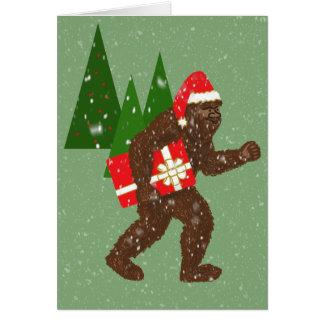 """""""Jul med Bigfoot"""", Hälsningskort"""