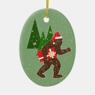 """Jul med Bigfoot"", Julgransprydnad Keramik"