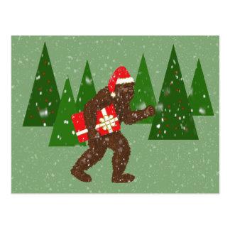 """""""Jul med Bigfoot"""", Vykort"""