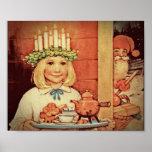Jul Nisse och Lucia dag Karin Affisch