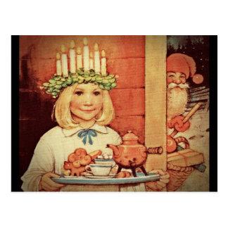 Jul Nisse och Lucia dag Karin Vykort