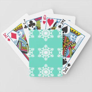 Jul på snöflingor för Tiffanys Aquablått Spel Kort