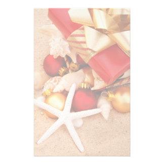 Jul på strandbrevpapperet brevpapper