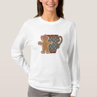Jul pepparkaka och muggkvinna t-skjorta tshirts