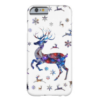 Jul ren & snöflingor barely there iPhone 6 skal