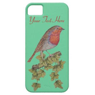 Jul Robin och murgrönalövillustration iPhone 5 Case-Mate Skydd