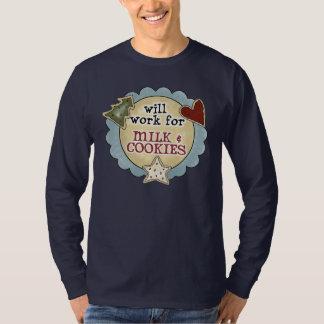 Jul roligt arbete, mjölk, kakaskjorta t-shirts