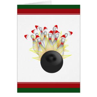Jul som bowlar strejka hälsningskort