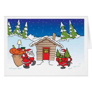 Jul som flyttar kortet hälsningskort