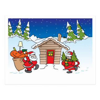 Jul som flyttar kortet vykort