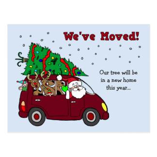 Jul som flyttar meddelandevykort vykort