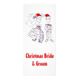 Jul som gifta sig bruden och brudgum reklamkort