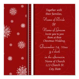 Jul som gifta sig fotoinbjudankort fyrkantigt 13,3 cm inbjudningskort