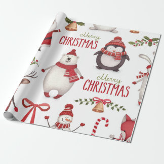 Jul som slår in papper presentpapper