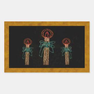 Jul tre stearinljus 2016 rektangulärt klistermärke