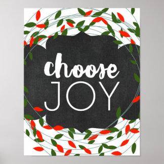 Jul - välj glädje - ljus - affisch
