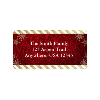Juladressetiketter Adressetikett
