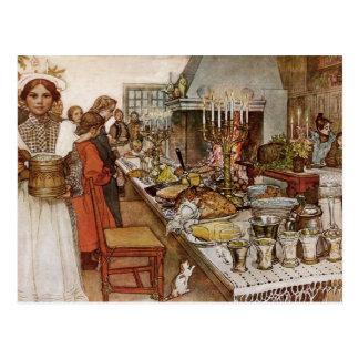 Julafton Julaftonen Vykort