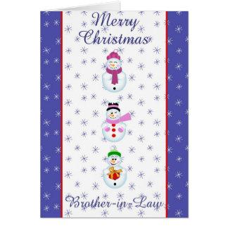 Julaftonbroder i lag hälsningskort