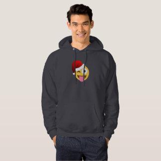julaftonjultomten som blinkar den hooded tröjan sweatshirt med luva