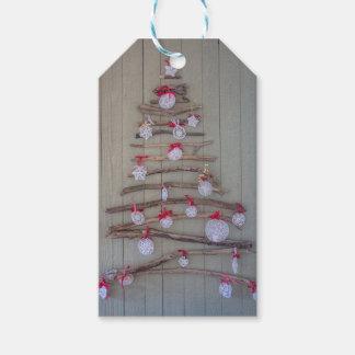 Julaftonmärkreträd Presentetikett