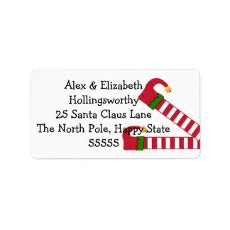Julälvaben Adressetikett