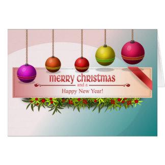 JulBaubleskort Hälsningskort