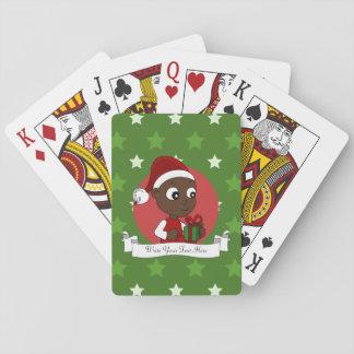 Julbebistecknad Spel Kort